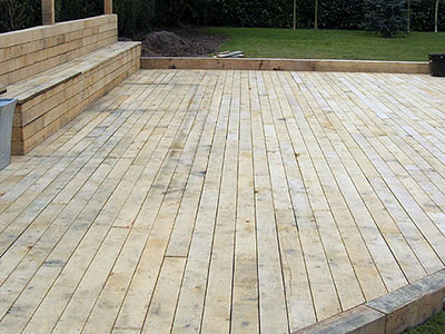 Green oak decking