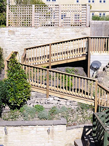 Decking provides an economic and technical solution to difficult sites and slopes