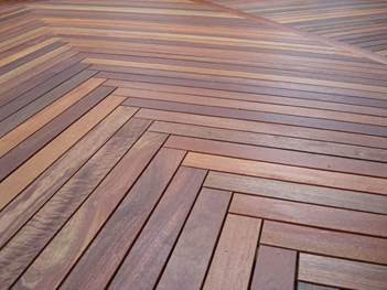 Herringbone decking