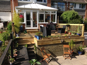 New softwood decking