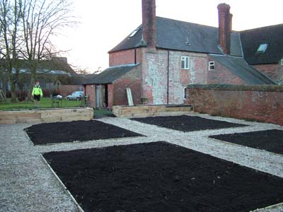Form paths and beds veg garden in Marden, Wiltshire