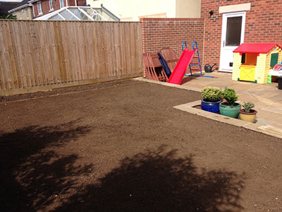 The garden before laying a new lawn