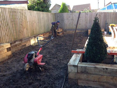 Sleeper beds and prep for lawn